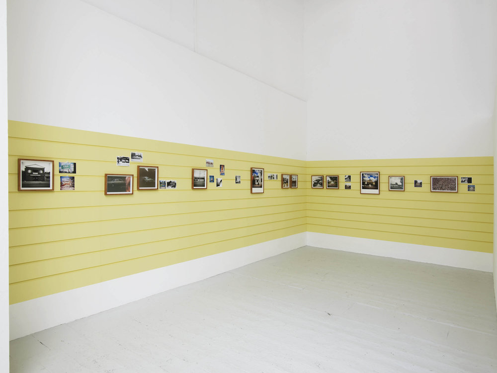 Obsolescence is the Very Hallmark of Progress (installation view) 34 framed and unframed photographs, wall painting  Royal Academy Schools , London June 13–29, 2014