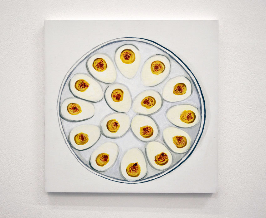Deviled Eggs From the series Some American Food 2013 Acrylic on birch ply, 12 x 12 in