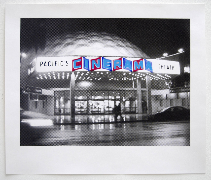 Cinerama 2011 Silkscreen on paper, 22 x 26 in