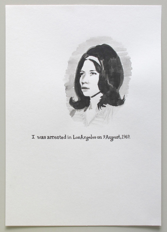 I was arrested in Los Angeles (Leslie) 2008 Ink on paper, 11.7 x 8.3 in