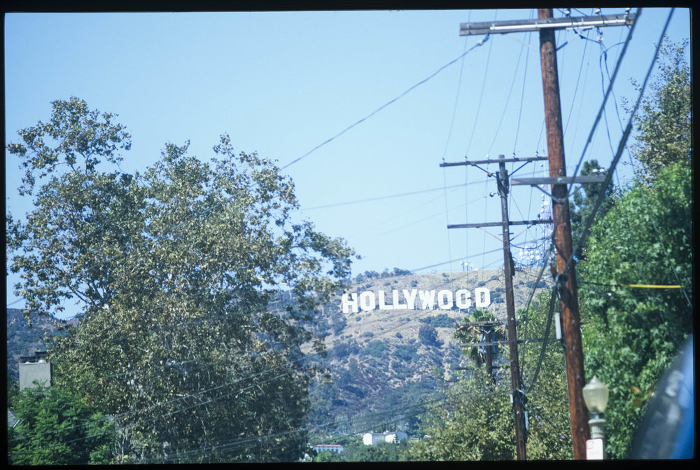 Up Towards the Hollywoood Sign (From the slide installation Real Estate) 2013 Fine art archival print from 35mm slide, 15 x 21.5 in
