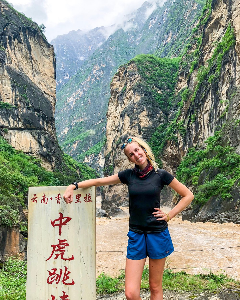 Guiding in Tiger Leaping Gorge, China