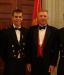 Brook '12 with General Haggen