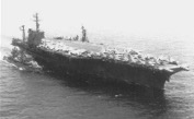 USS WM. R. RUSH (DD-714) alongside USS AMERICA (CVA-66), 1967
