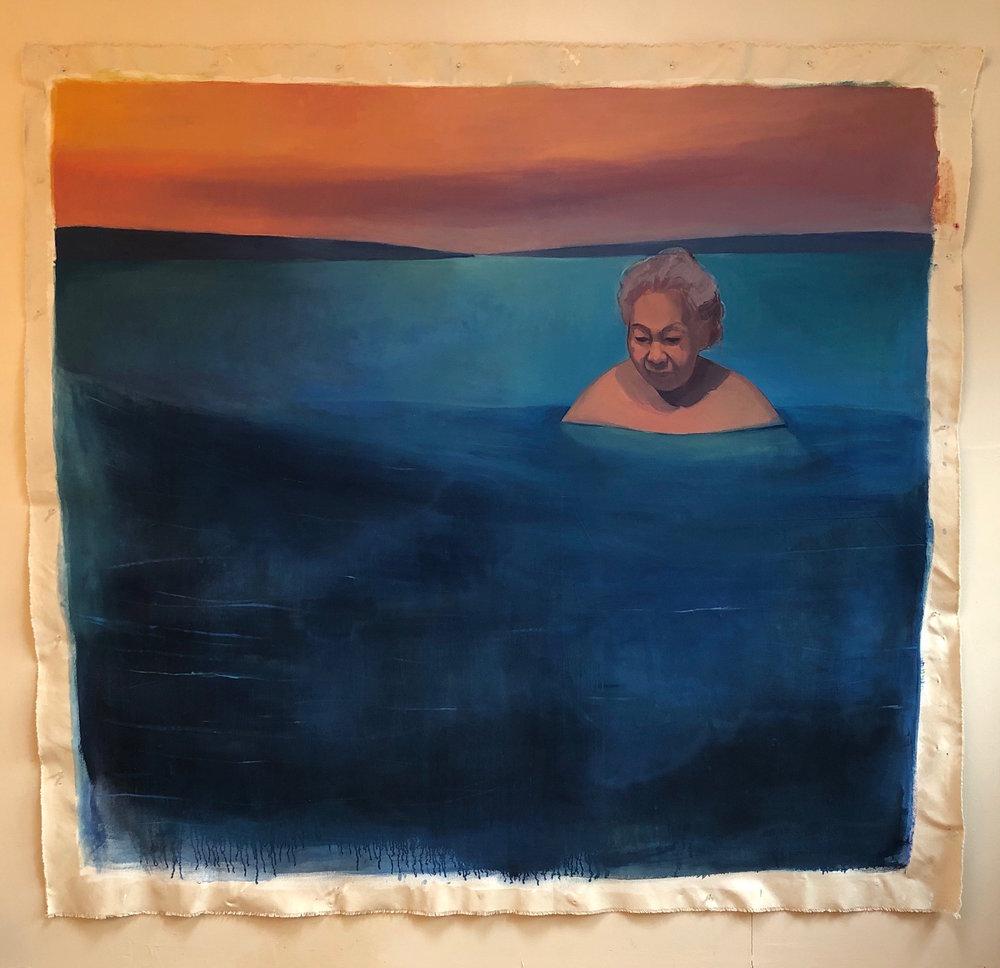 Grandma in Cayuga's Waters