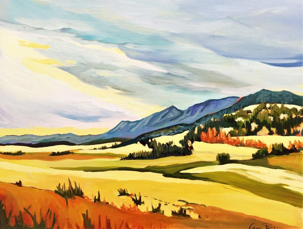 Prairie Meets Mountain 16x20