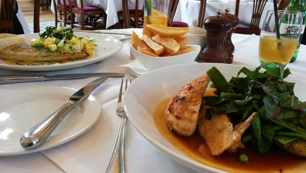 There were a lot of calories in this meal. But so much nutrition as well! (The Pump Rooms, Bath)