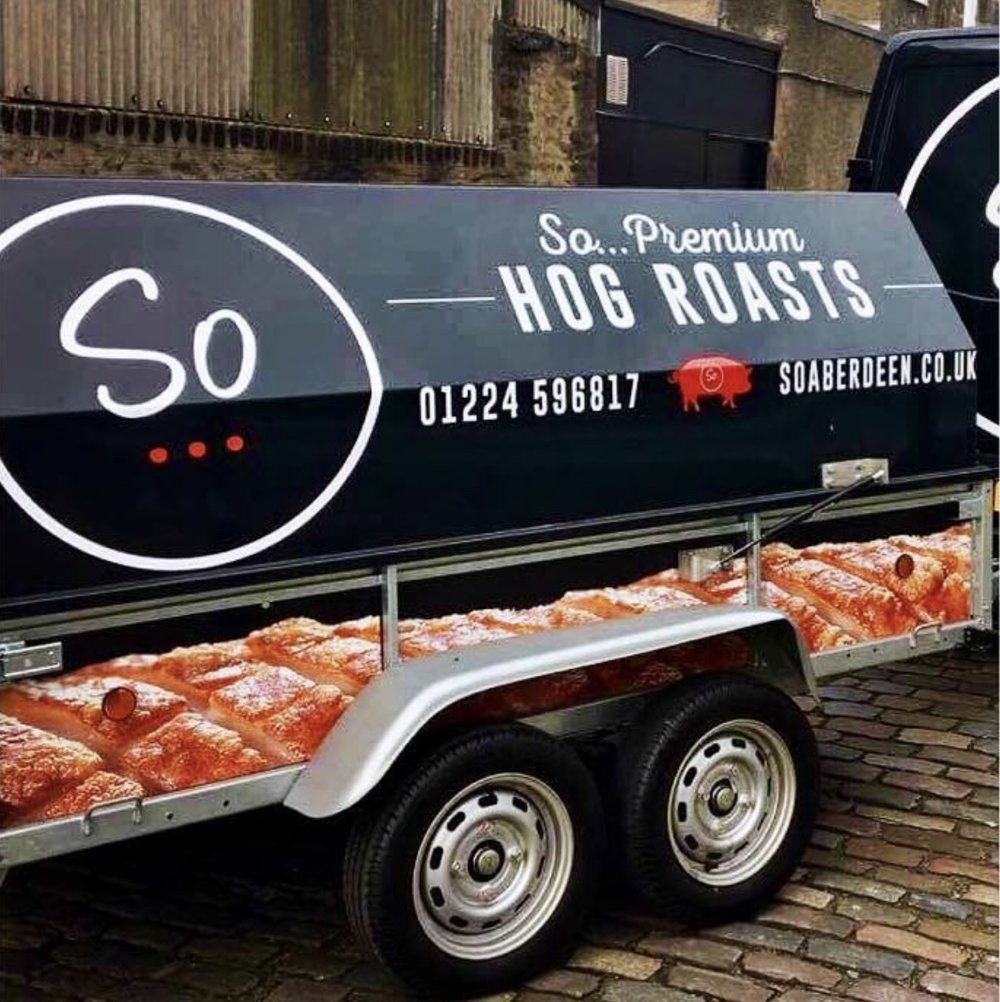 SO...HOG ROASTS - Perfect for large outdoor events, our hog roast suits a range of occasions such as corporate events, wedding receptions and more.