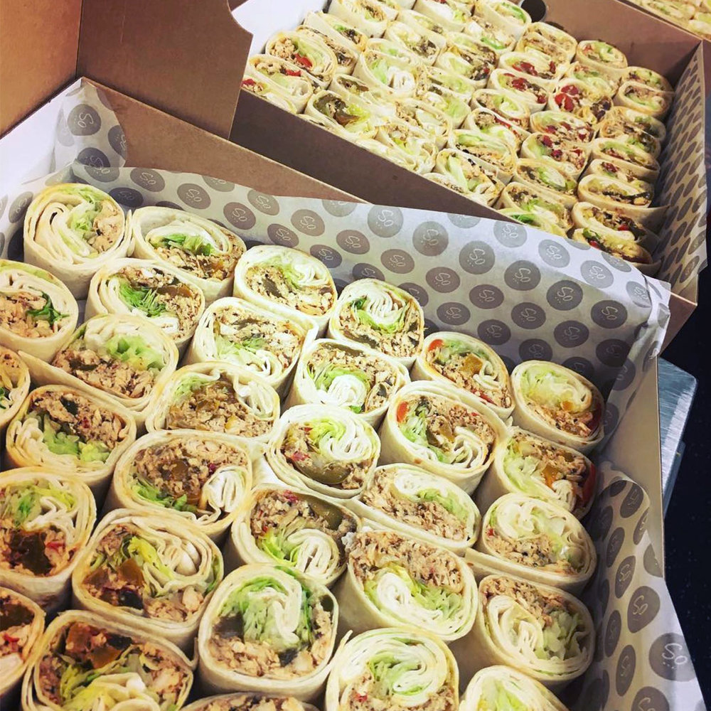 SANDWICH BOXES - Whether it's a quick office lunch or a last minute meeting, we offer same day delivery of our favourite fillings loaded into fresh breads or wraps.