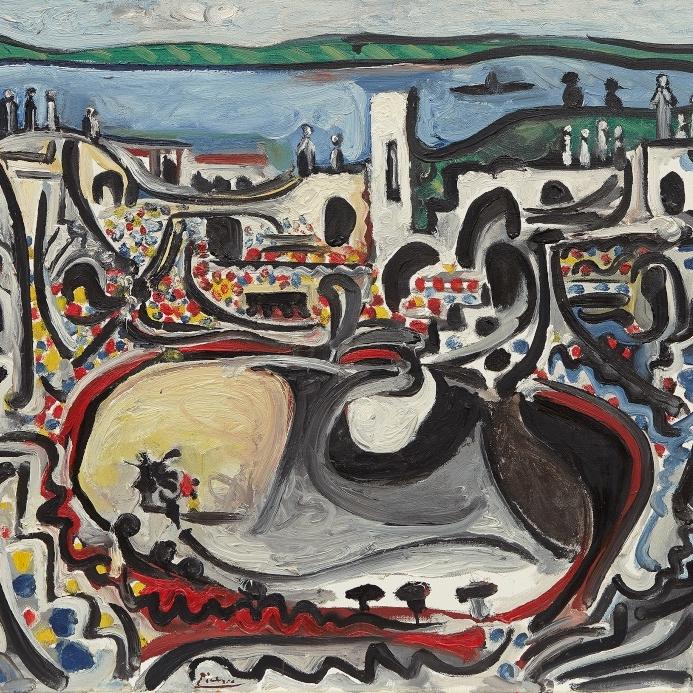 Picasso - Arles, les arenas devant le Rhone II[3].jpg