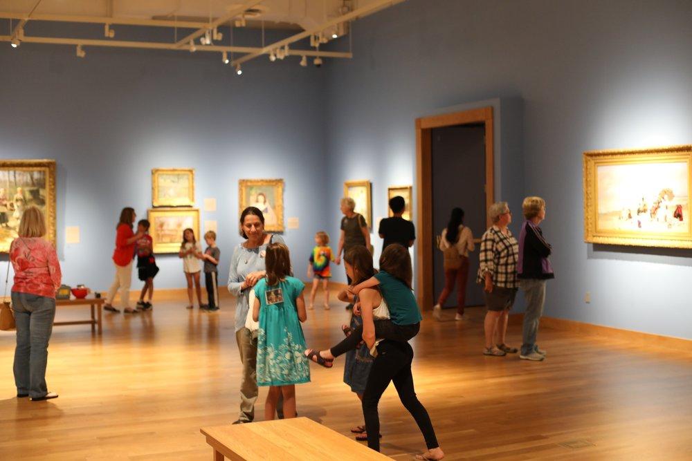 Children enjoy the galleries during  Second Saturday: Women in Art