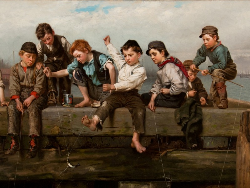 A Thrilling Moment  (1880) by John George Brown