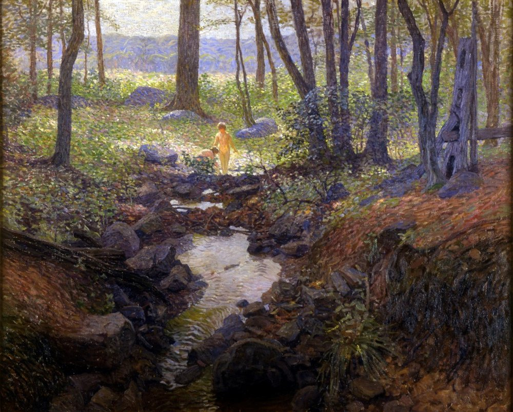 N.C. Wyeth,  Landscape Study in the Woods,  1916. Oil on canvas.