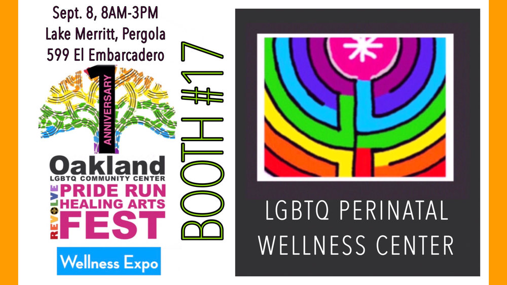 Gorgeous day at the FunRun & Wellness Expo celebrating Oakland Pride!! So many thanks to you Kin Folkz- Spectrum Queer Media- and to Heaven Walker, Kathleen Scheible, Tanya Stiller, and Akasha Madron of the LGBTQ Perinatal Wellness Center for sharing your love and expertise at our booth today!!