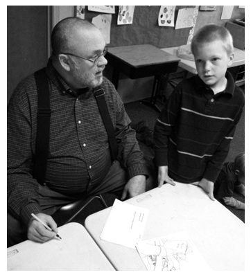 Jay McFadyen and CMCS student during composer study
