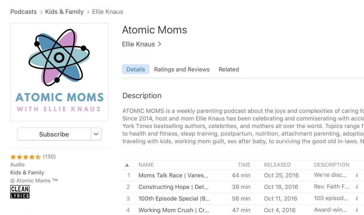 Atomic Moms ITunes