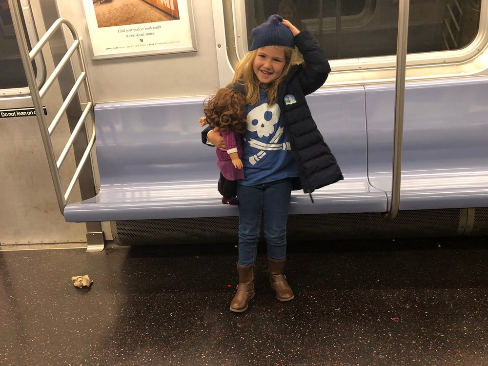 SABRINA'S FIRST SUBWAY RIDE -