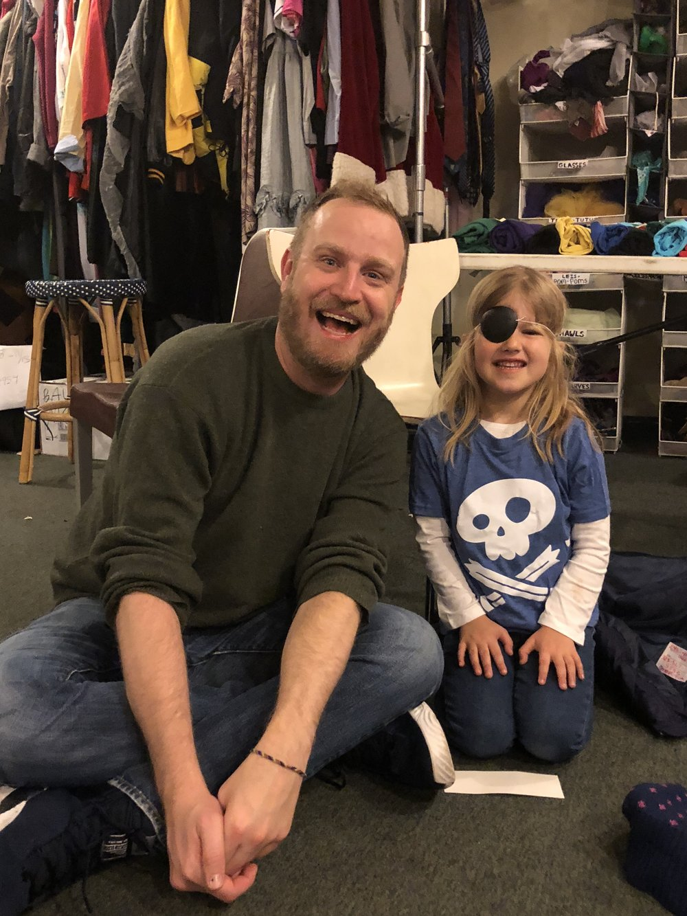 Lee and Sabrina in the Story Pirates Office -