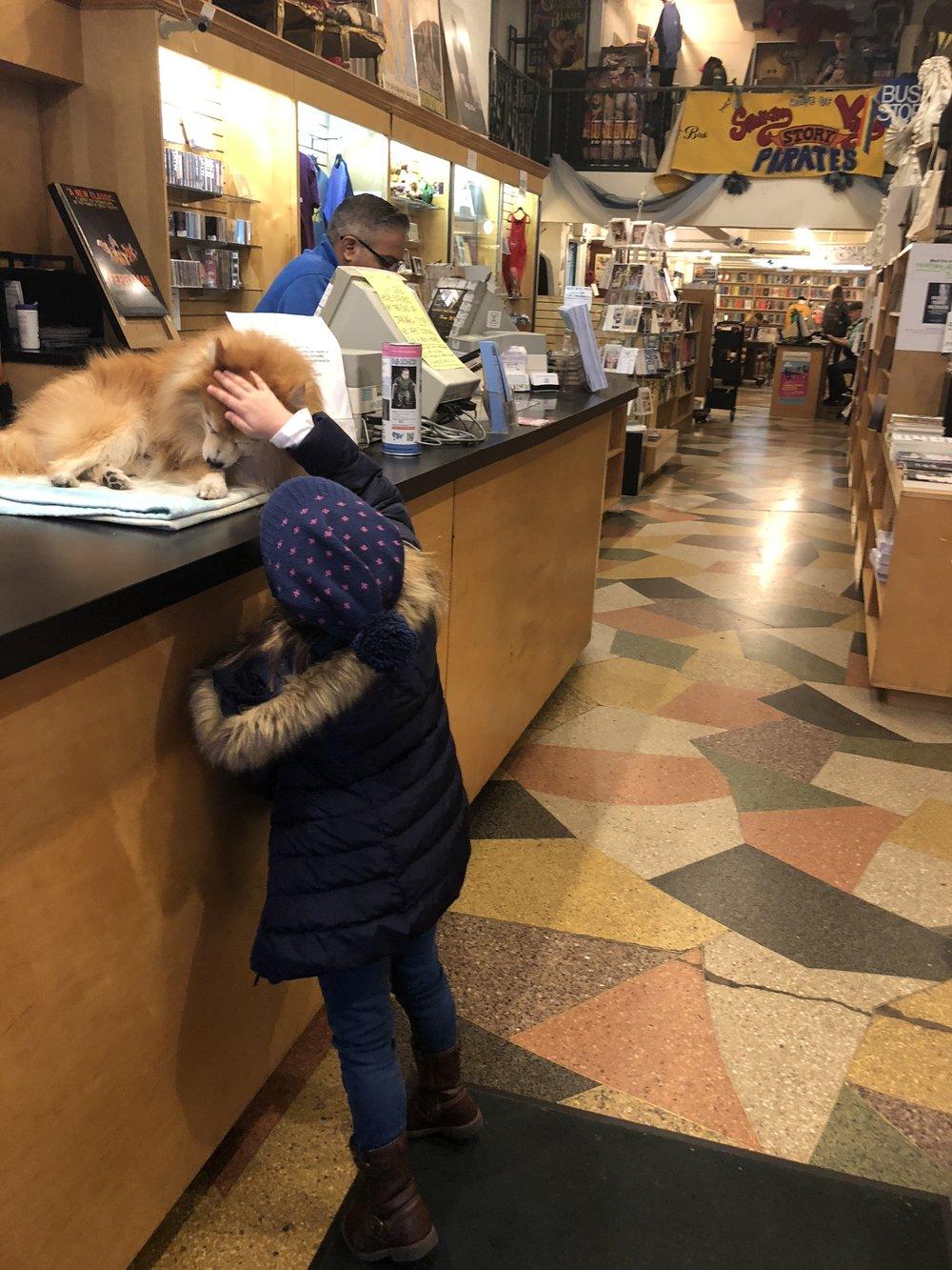 Sabrina Befriends Chester at The Drama Bookshop aka The Story Pirates Headquarters -