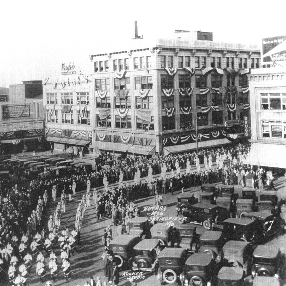 c. 1926 - The Holland Building in bunting for the 1926 Rotary welcome parade.