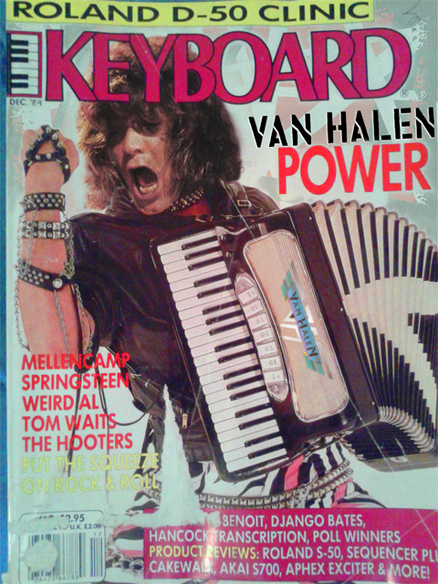 Eddie Van Halen Keyboard Magazine Keyboardist of the Year 1984