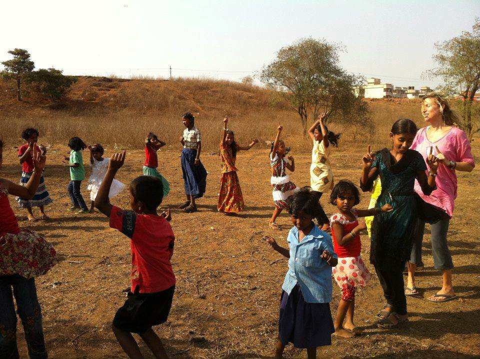 Dancing with my sweet ones who give me Life in India.