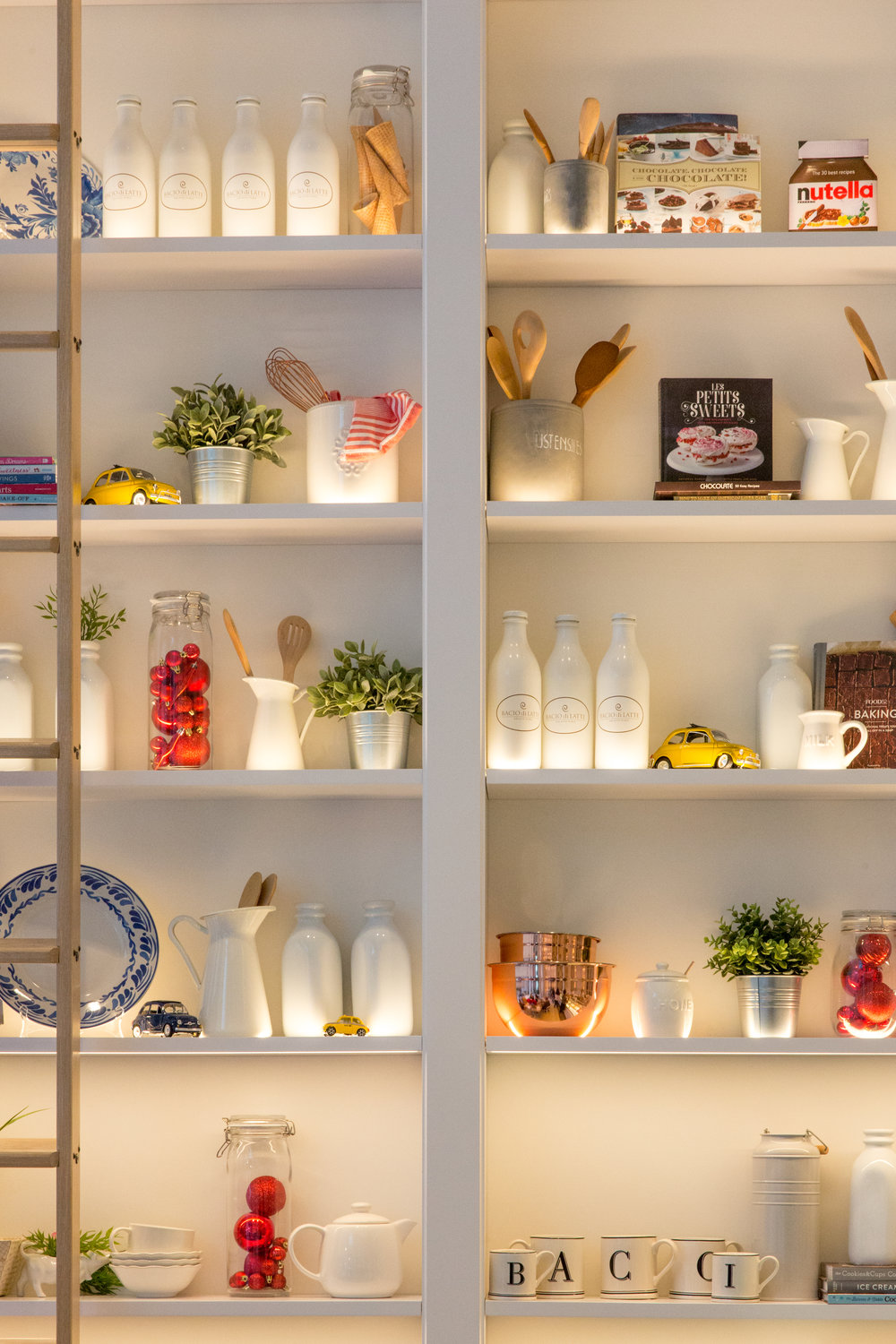 Neat shelving to organize lots of things - but probably only increases the salability and not the appraised value of a house.