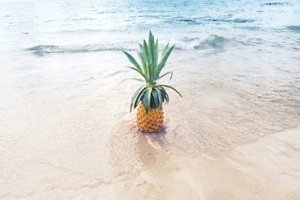 pineapple on the beach