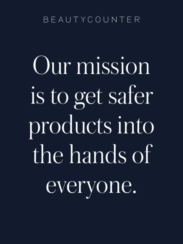 "Beautycounter ""Safer products in the hands of everyone"" What does safer mean?"