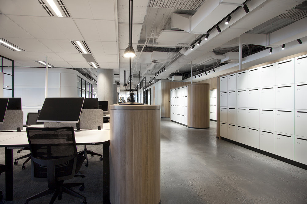 800 Collins Street custom workplace lockers