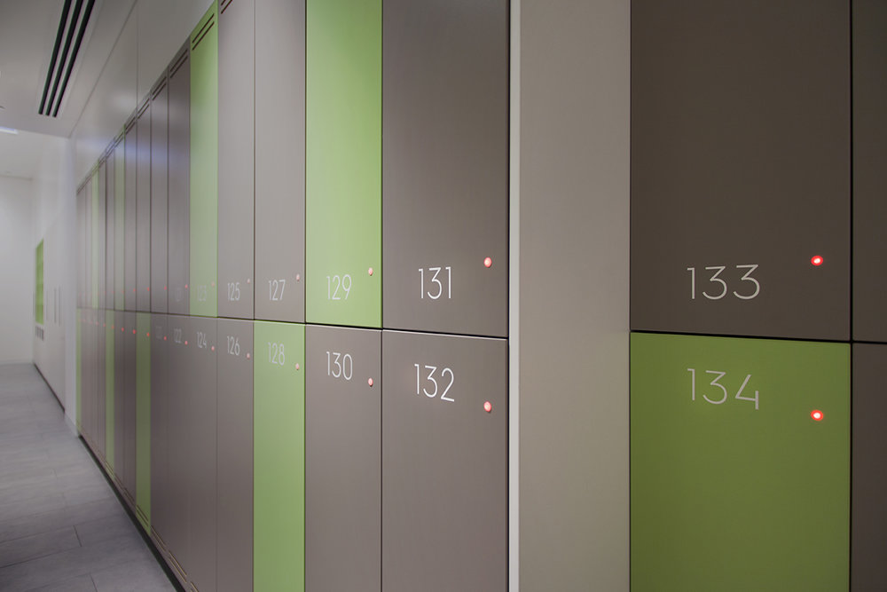 Locker numbering at 485 La Trobe street