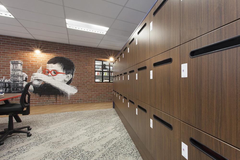 Timber grain lockers by Lockin