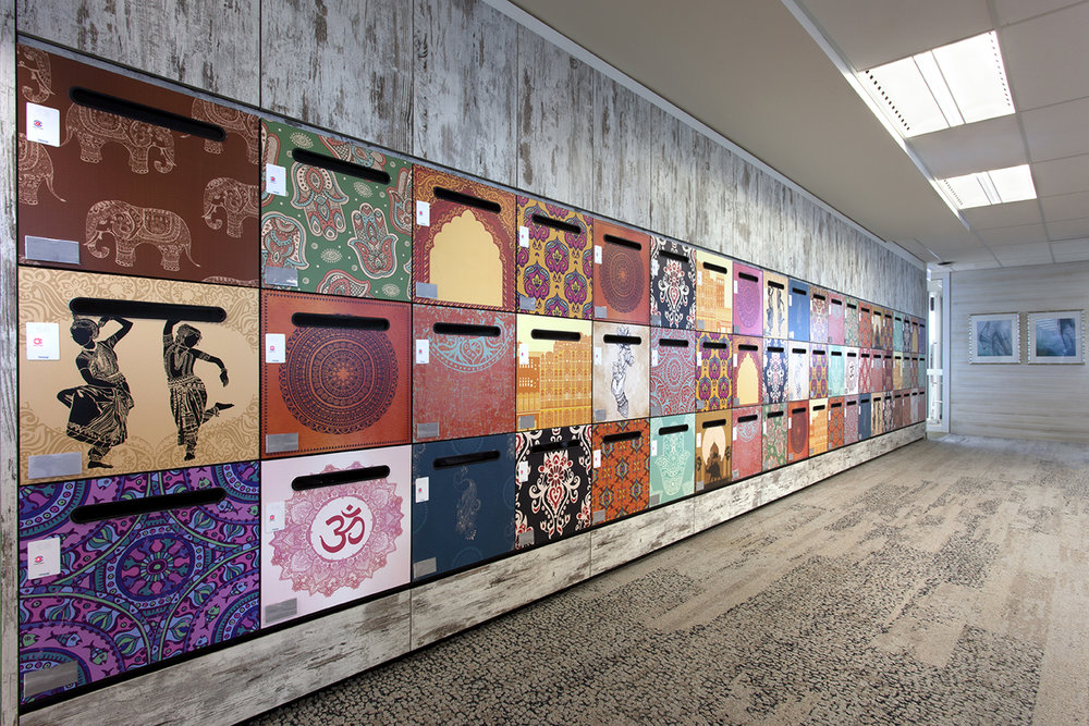 Vinyl wrap locker doors by Lockin Australia