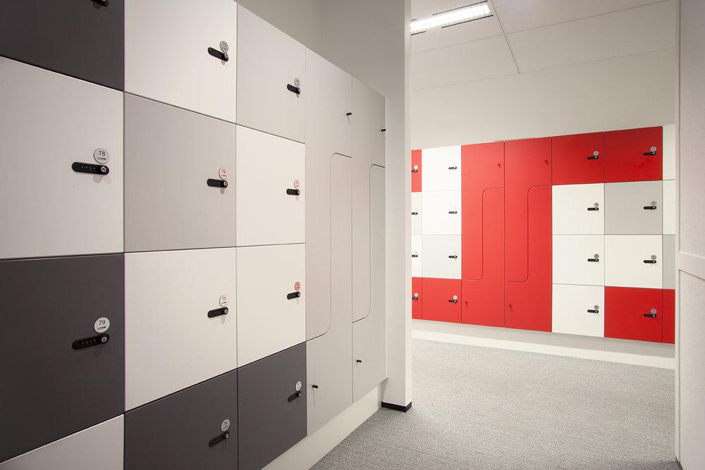 Myer Family Co workplace lockers by Lockin