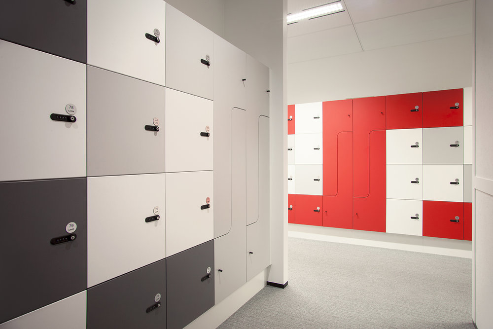 Myer Family Co office lockers by Lockin