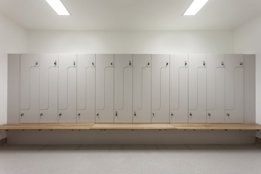 Grey PL2+ lockers at Audi Doncaster by Lockin