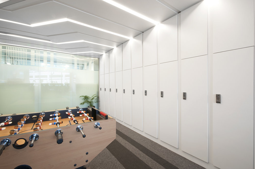 Monash University office lockers by Lockin