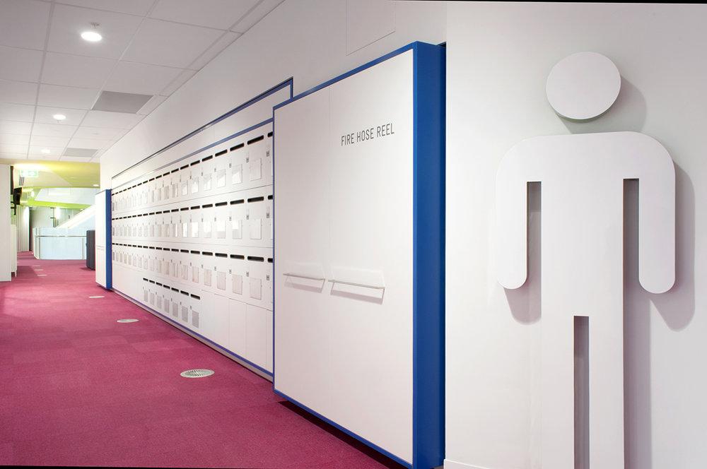 Staff lockers at Medibank in Melbourne by Lockin