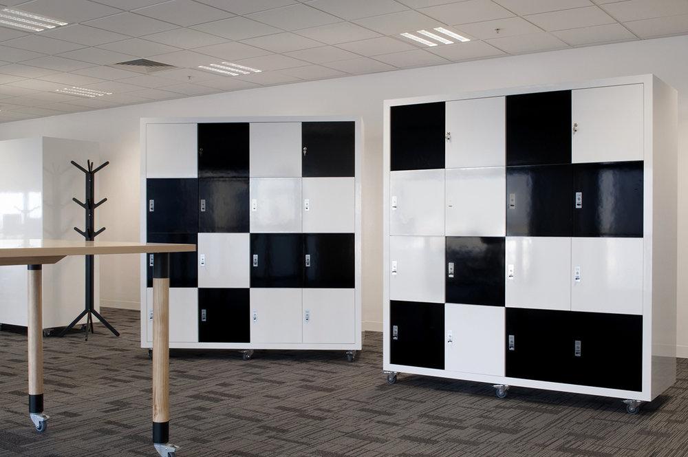 ANZ whiteboard lockers by Lockin