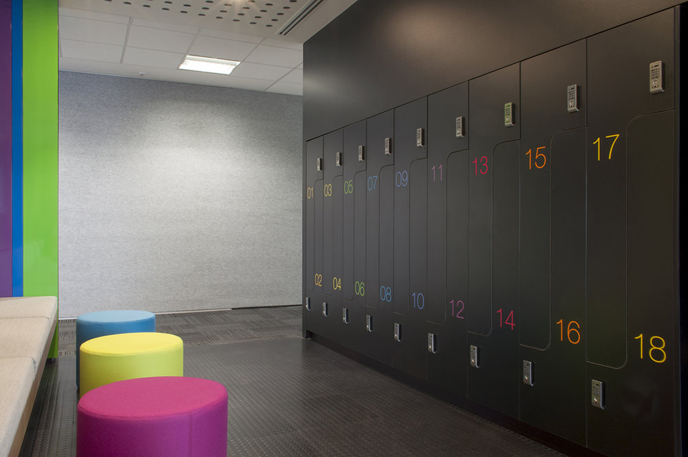 ACMA PL2 lockers with custom graphics by Lockin