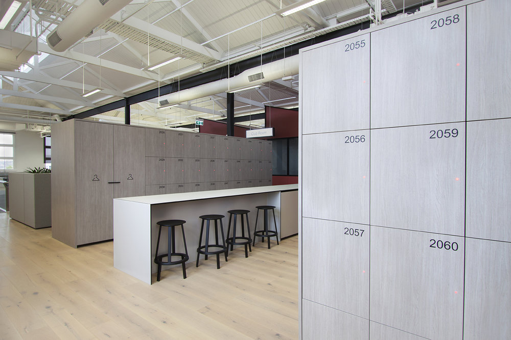 Red Energy office lockers