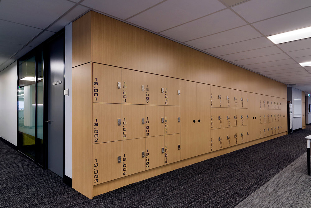 IRESS lockers with coat cupboards and matching bulkheads