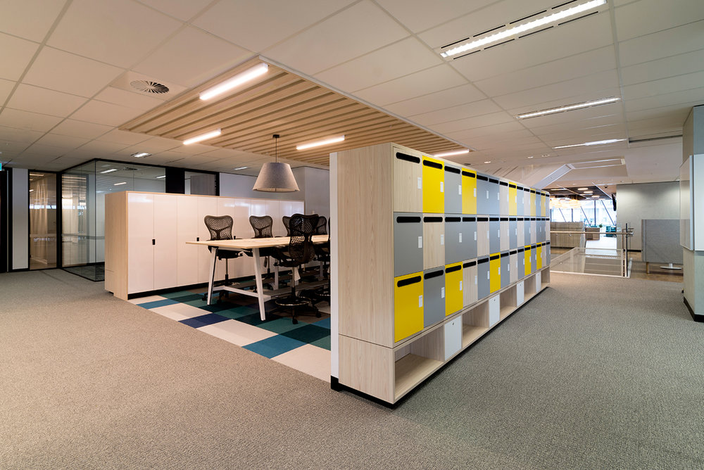 Custom lockers at NBN Co by Lockin