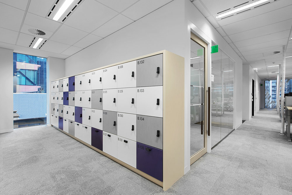 Integrated laminate lockers by Lockin