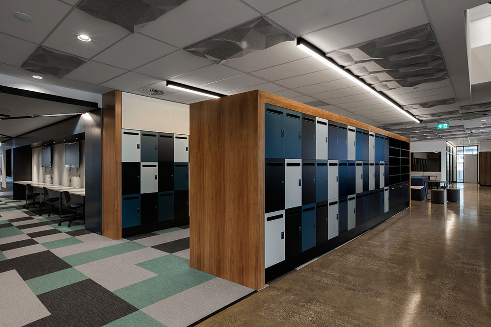 Lockers for Leo Cussen with timber laminate doors
