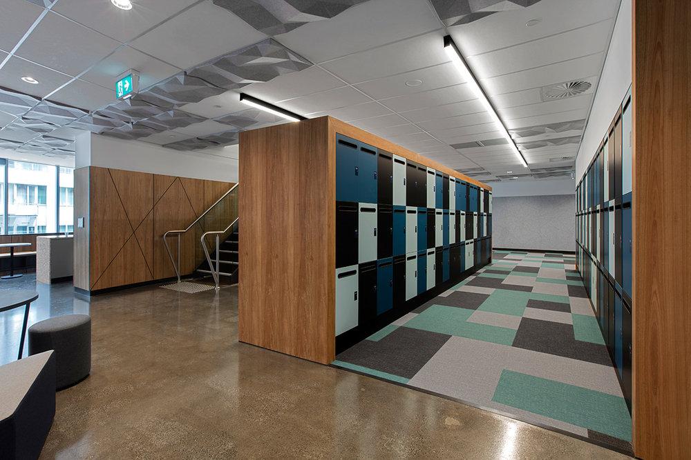 Laminate lockers with mail chute by Lockin Lockers