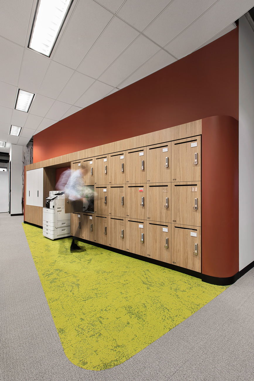 Custom timber laminate lockers by Lockin
