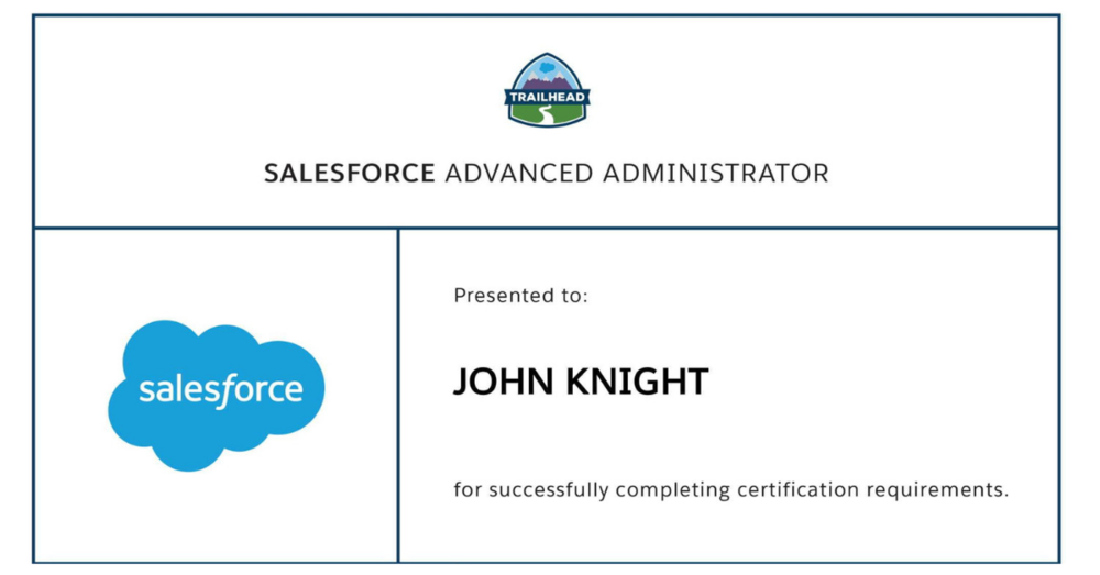 Passing The Adm 211 Salesforce Certified Advanced Administrator
