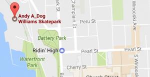 A-Dog Skatepark Map