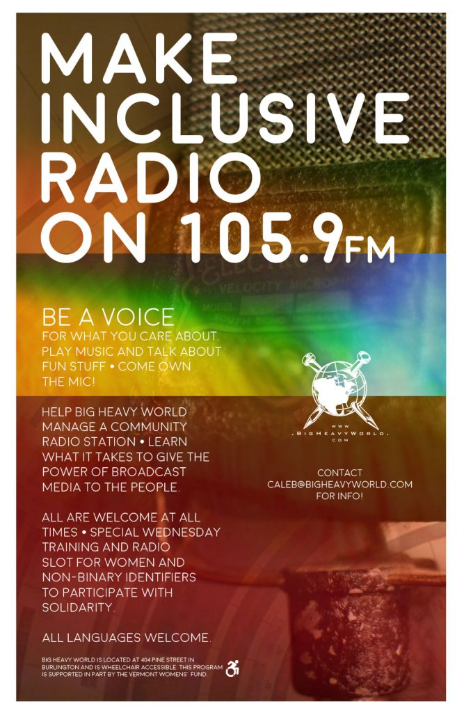 Make Inclusive Radio Poster